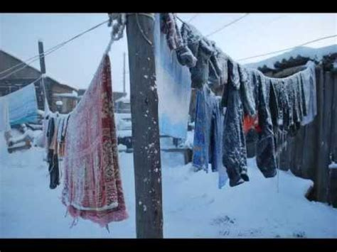 Cold Winter Weather Travel to Oymyakon, Russia's Siberia