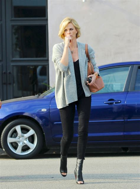 Charlize Theron in Tight Pants in Los Angeles - HawtCelebs