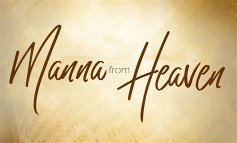 Manna From Heaven - Television - Benny Hinn Ministries