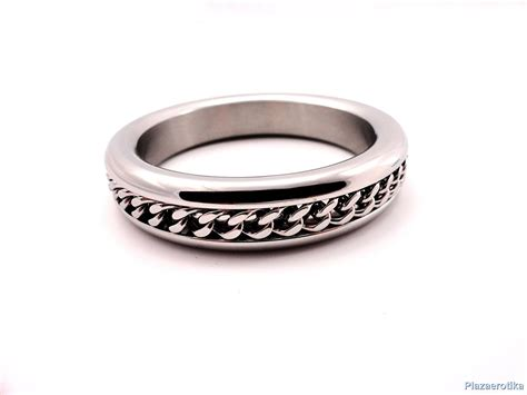 Metal cockring with chain inlay /master series - Extrém