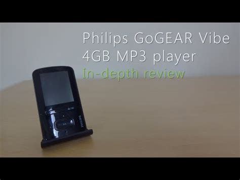Philips GoGEAR Vibe 4GB MP3 player review - YouTube